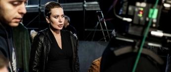 """Sabina Guzzanti sul set de """"La trattativa"""""""